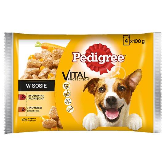 Pedigree Vital Protection Dog Food in Sauce 400 g (4 x 100 g)