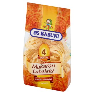 As-Babuni Nest-Ribbons with Turmeric 4 Egg Lubelski Pasta 400 g