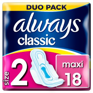 Always Classic Long Sanitary Towels Wings 18x