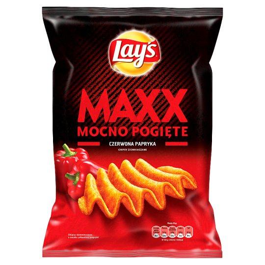 Lay's Maxx Mocno Pogięte Red Paprika Potato Crisps 210 g