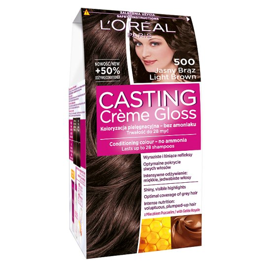 L'Oreal Paris Casting Creme Gloss 500 Light Brown Coloring Cream