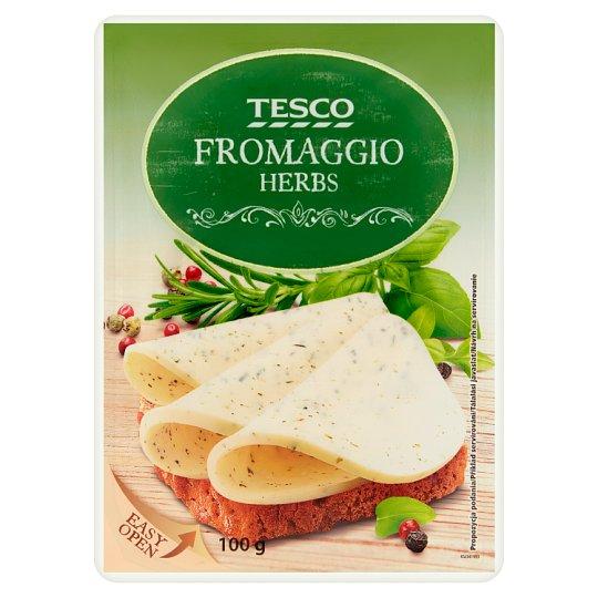 Tesco Fromaggio Serek śmietankowy z ziołami w plastrach 100 g