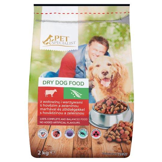 Tesco Pet Specialist Karma dla dorosłych psów granulki z wołowiną i warzywami 2 kg