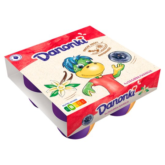 Danone Danonki Mega Berry Vanilla Cottage Cheese 360 g (4 Pieces)