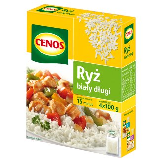 Cenos White Long Rice 400 g (4 Bags)