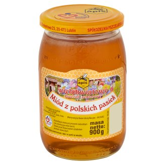 Apis Multi-Flower Nectar Bee from Polish Apiaries Honey 900 g