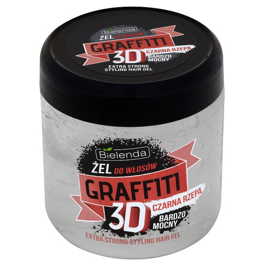 Bielenda Graffiti 3D Extra Strong Styling Hair Gel with Black Turnip 250 g