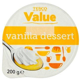 Tesco Value Deser o smaku waniliowym z bitą śmietanką 200 g