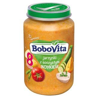BoboVita Jarzynki z soczystym indykiem po 8 miesiącu 190 g