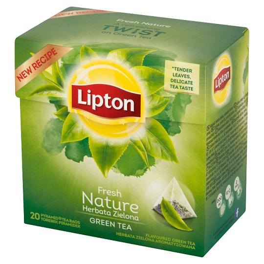 Lipton Fresh Nature Flavoured Green Tea 28 g (20 Tea Bags)