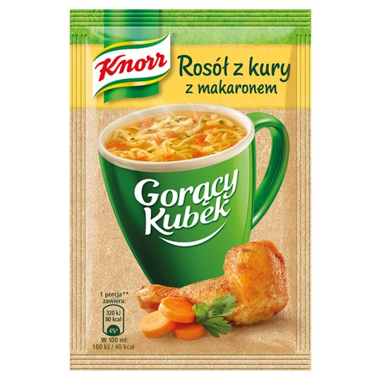 Knorr Gorący Kubek Chicken Broth with Pasta 12 g