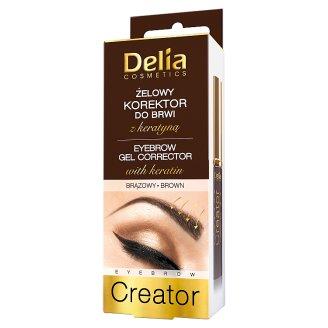 Delia Cosmetics Eyebrow Creator Eyebrow Gel Corrector with Keratin Brown 7 ml