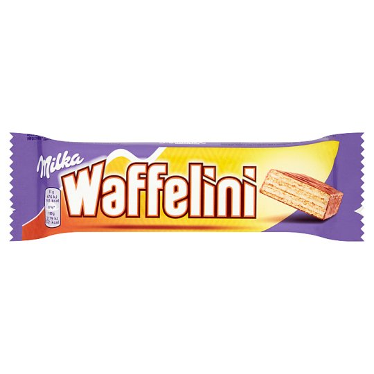 Milka Waffelini Wafer Wrapped in Cream Milk Chocolate Dipped in Cream 31 g