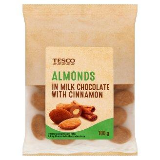 Tesco Migdały w czekoladzie mlecznej i cynamonie 100 g