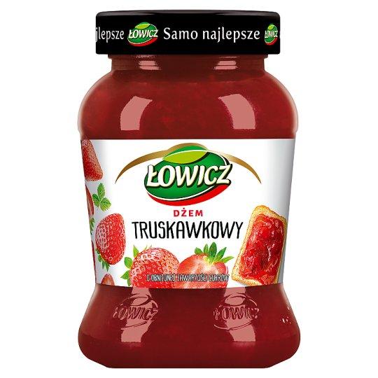 Łowicz Dżem truskawkowy niskosłodzony 450 g
