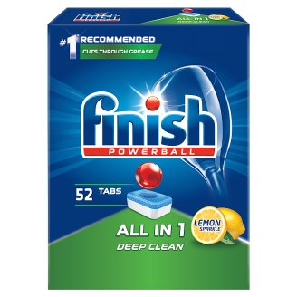 Finish All in 1 Lemon Dishwasher Detergent in Tabs 847.6 g (52 Pieces)