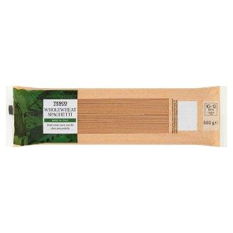 Tesco Italian Makaron pełnoziarnisty bezjajeczny spaghetti 500 g