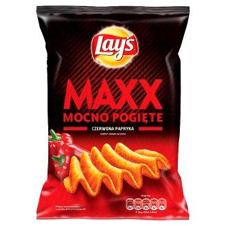 Lay's Maxx Mocno Pogięte o smaku Czerwona papryka Chipsy ziemniaczane 140 g
