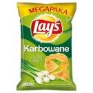 Lay's Karbowane Zielona Cebulka Chipsy ziemniaczane 225 g