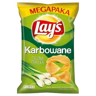 Lay's Karbowane Spring Onion Flavoured Potato Crisps 225 g