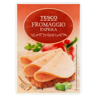 Tesco Fromaggio Paprika Sliced Cream Cheese 100 g