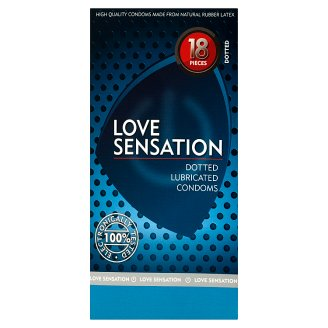 Love Sensation Dotted Lubricated Condoms 18 Pieces