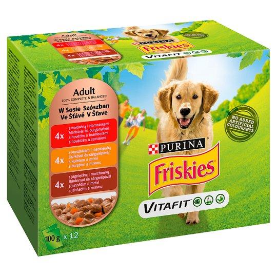 Friskies Vitafit Adult Dog Food 1200 g (12 x 100 g)
