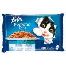 Felix Fantastic Duo Wybór rybnych smaków Karma dla dorosłych kotów 400 g (4 saszetki)