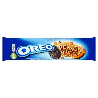 Oreo Cocoa Flavoured Sandwich Biscuits with a Peanut Butter Flavour Filling 154 g