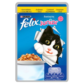 Felix Fantastic Junior Complete Food for Kittens with Chicken in Jelly 100 g