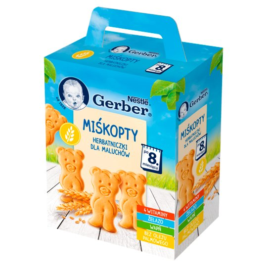Nestlé Miśkopty Newborns Biscuits and Small Children after 8 Months Onwards 180 g