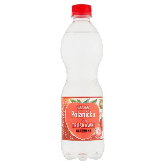 Tesco Polanicka Napój gazowany smak truskawki 500 ml