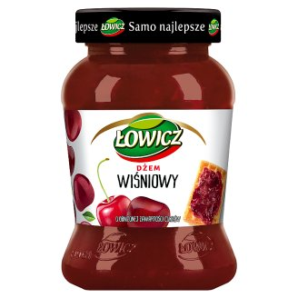 Łowicz Cherry Low Sugar Jam 450 g