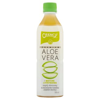 Qeency Premium Aloe Vera Aloe Drink + Lemon Matcha 500 ml