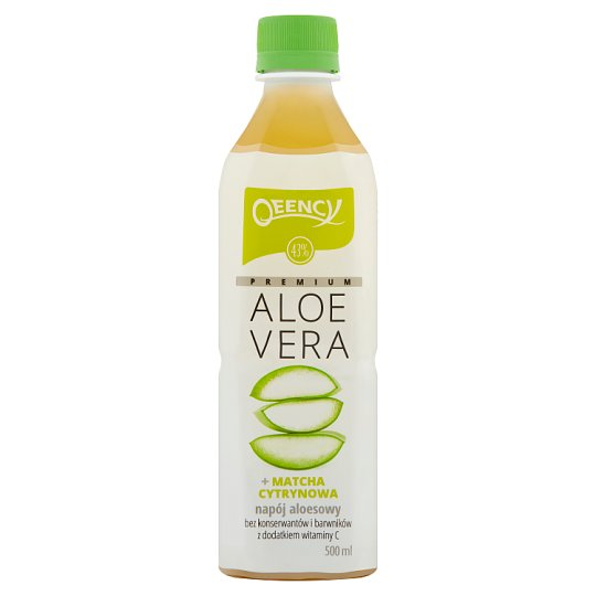 Qeency Premium Aloe Vera Napój aloesowy + matcha cytrynowa 500 ml
