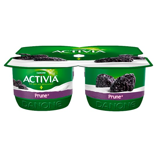 Danone Activia Prune Yoghurt 480 g (4 x 120 g)