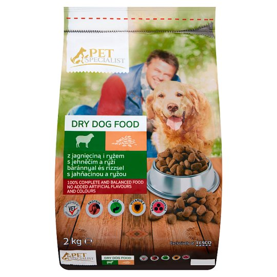 Tesco Pet Specialist Rings with Lamb and Rice Dry Food for Adult Dogs 2 kg