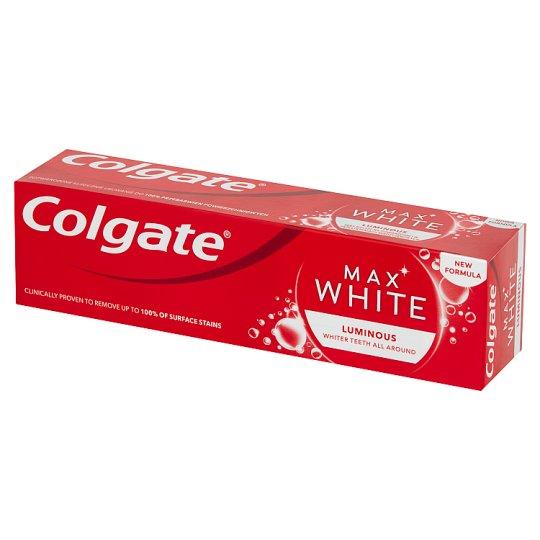 Colgate Max White Luminous Skrząca mięta Pasta z fluorem 75 ml