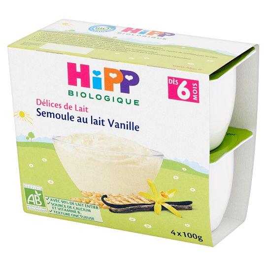 HiPP BIO Kaszka mleczna waniliowa dla niemowląt po 6. miesiącu i małych dzieci 400 g (4 x 100 g)