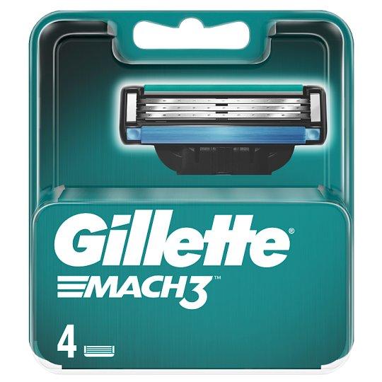 Gillette Mach3 Ostrza wymienne do maszynki, 4 sztuki