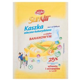 SunVit Kaszka mleczno-kukurydziana o smaku bananowym 50 g