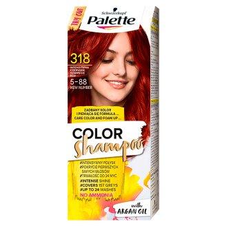 Palette Color Shampoo Szampon koloryzujący Intensywna czerwień 318