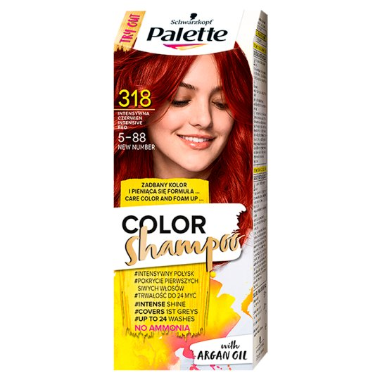 Palette Color Shampoo Coloring Shampoo Intensive Red 318