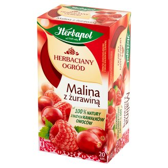 Herbapol Herbaciany Ogród Raspberry with Cranberry Fruit Herbal Tea 54 g (20 x 2.7 g)