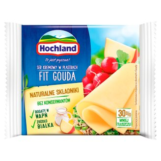Hochland Fit Gouda Cream Cheese in Slices 130 g (8 Pieces)