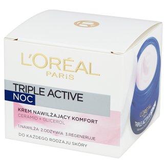 L'Oreal Paris Triple Active Krem nawilżający komfort na noc 50 ml