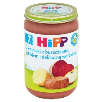 HiPP BIO Potatoes with Beetroots Apple and Delicate Beef after 7. Months Onwards 220 g