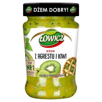 Łowicz Low Sugar Gooseberry and Kiwi Jam 280 g