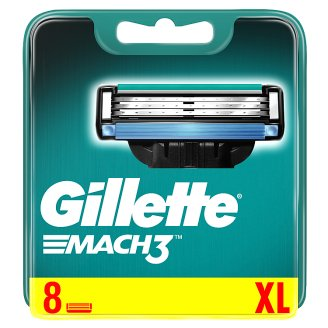 Gillette Mach3 Razor Blades For Men, 8 Refills