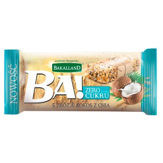 Bakalland Ba! 5 Cereal & Coconut with Chia Bar 30 g
